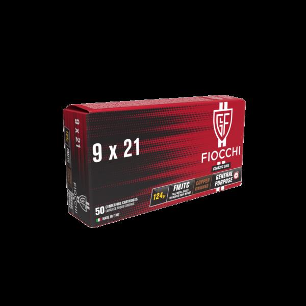 FIOCCHI 9X21 FMJTC 124gr