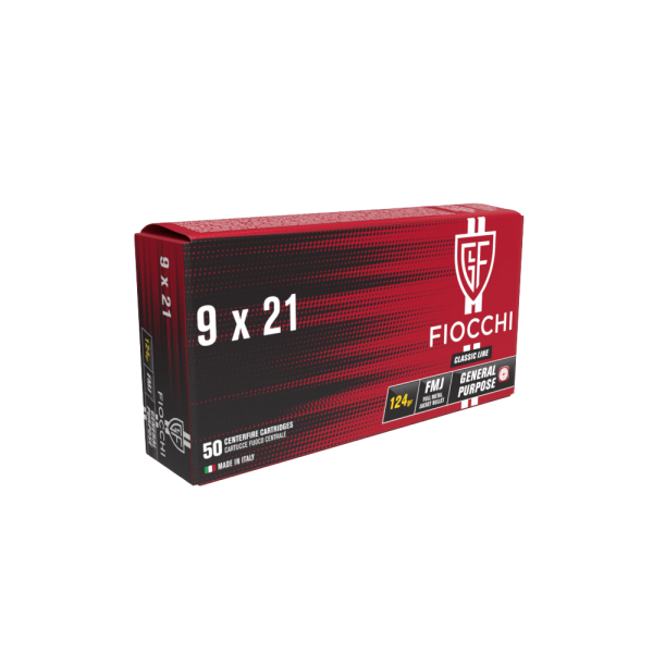 FIOCCHI 9X21 FMJ 124gr
